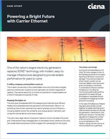 Powering a Bright Future with Carrier Ethernet Case Study preview