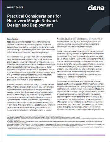 Practical Considerations for Near-zero Margin Network Design and Deployment white paper preview