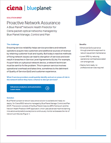 Blue Planet NHP Turnkey Solution for MCP Managed Networks solution brief