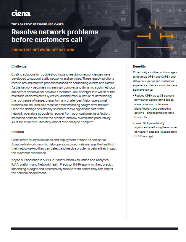 Resolve Network Problems Before Customers Call