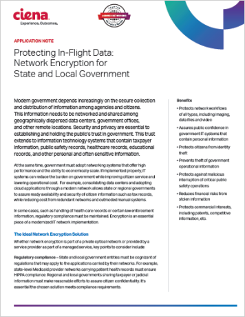 Protecting In Flight Data: Network Encryption for State and Local Government
