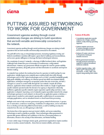 Putting Assured Networking to Work for Government