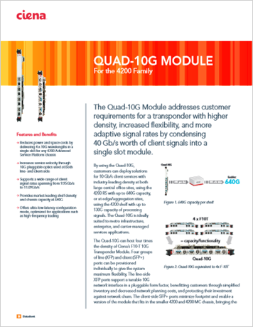 Quad-10G Module product data sheet