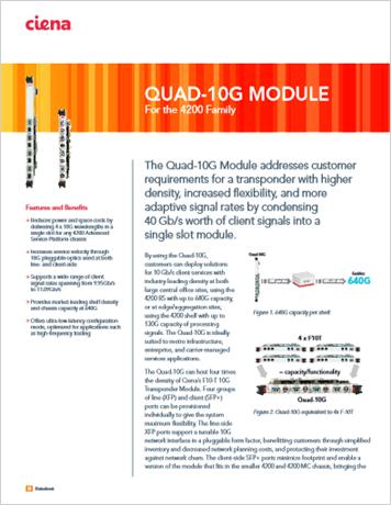 Quad-10G Module product data sheet