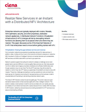 Realize New Services in an Instant with a Distributed NFV Architecture