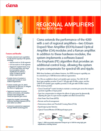Regional Amplifiers product data sheet