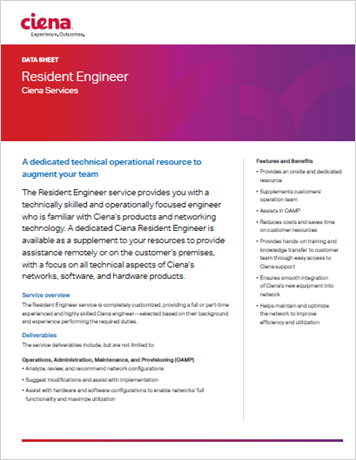 Resident Engineer data sheet