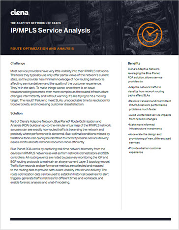 IP/MPLS Service Analysis