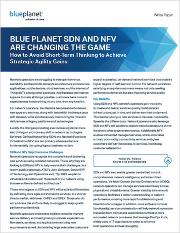 Blue Planet SDN and NFV are Changing the Game