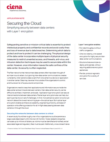 Securing the Cloud application note