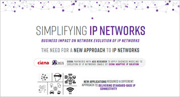 Thumbnail image for Simplifying IP Networks: Business impact on network evolution of IP networks infographics