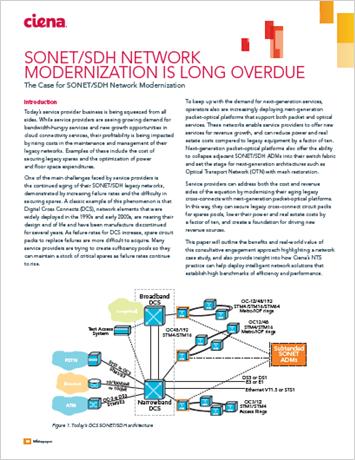 SONET/SDH Network Modernization Is Long Overdue