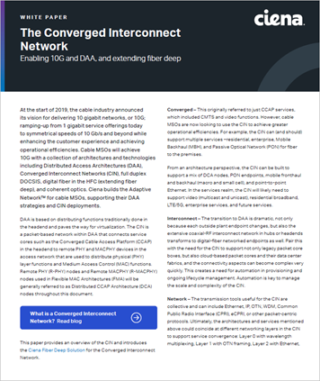 The Converged Interconnect Network White Paper