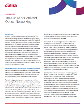 The Future of Coherent Optical Networking Vision Paper whitepaper thumbnail