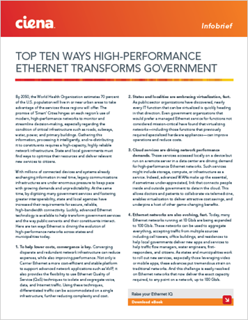 Top Ten Ways High-Performance Ethernet Transforms Government