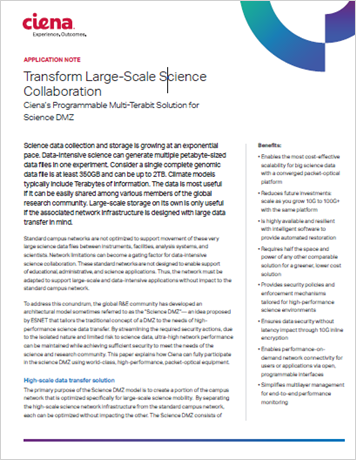 Transform Large Scale Science Collaboration