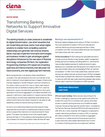 Transforming Banking Networks to Support Innovative Digital Services