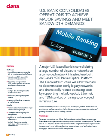 U.S. Bank Consolidates Operations to Achieve Savings and Meet Bandwidth Demands