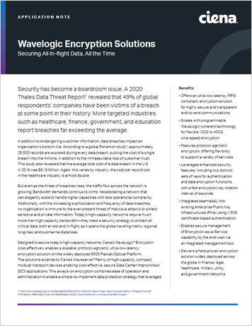 Wavelogic Encryption Solution application note thumbnail