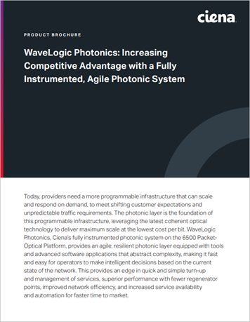 WaveLogic Photonics: Increasing Competitive Advantage with a Fully Instrumented, Agile Photonic System product brochure thumbnail