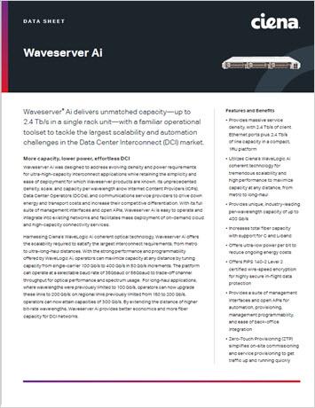 Waveserver Ai data sheet thumbnail