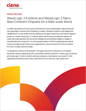 WaveLogic 3 Extreme and WaveLogic 3 Nano