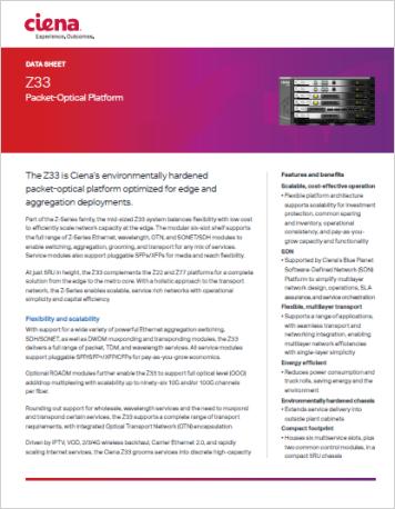 Z33 Packet Optical Platform