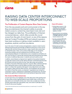 Raising Data Center Interconnect to web-scale proportions Application Note thumbnail