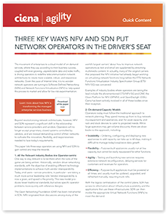 Three key ways NFV and SDN put network operators in the driver's seat infobrief