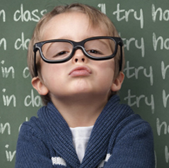Kid with glasses image