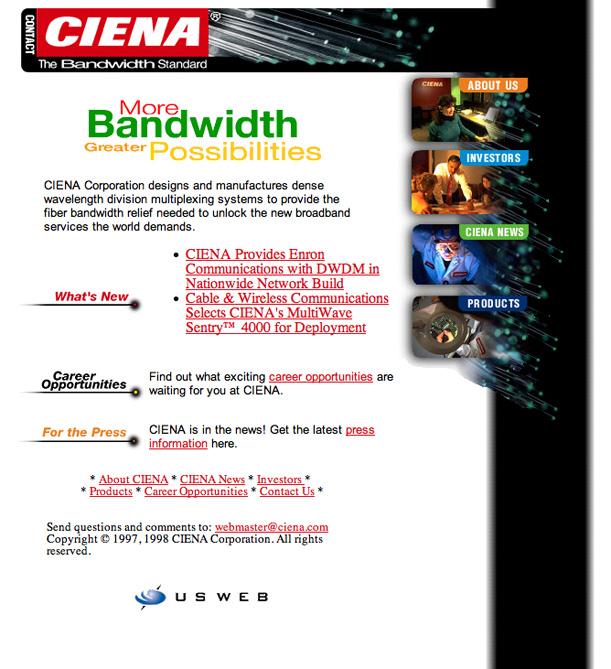 Ciena.com in 1997