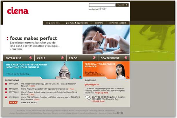 Ciena.com in 2004