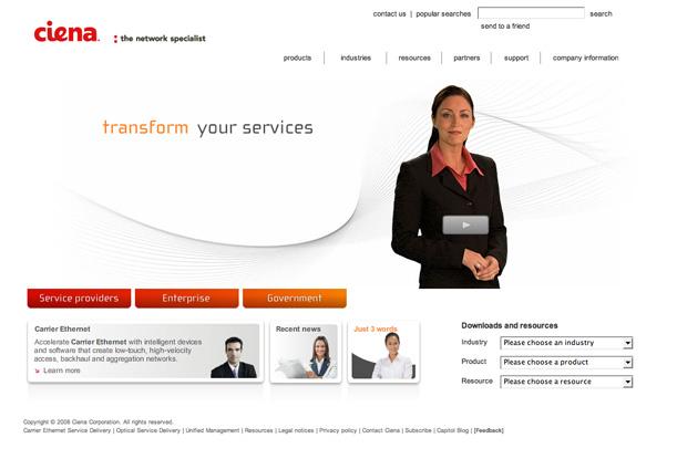 Ciena.com in 2008