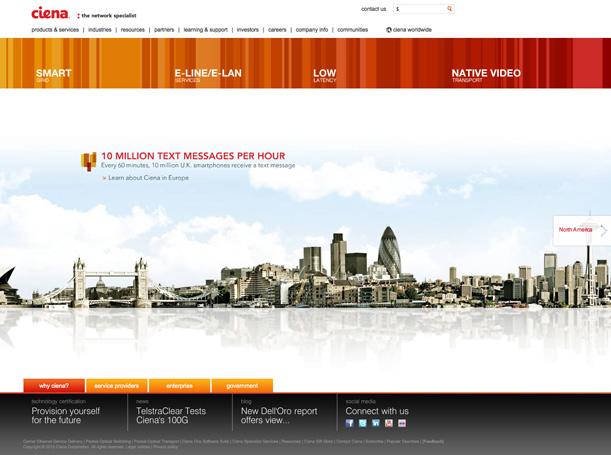 Ciena.com in 2010