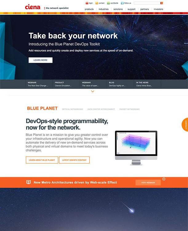 Ciena.com in 2016