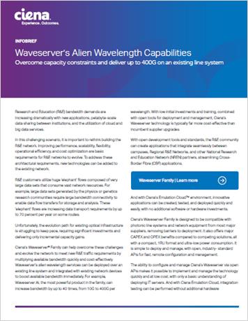 Waveserver's Alien Wavelength Capabilities