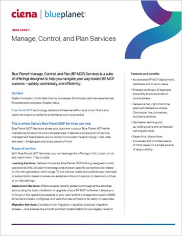 Blue Planet MCP Services data sheet