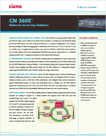 CN 3605 product data sheet