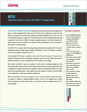 ECU product data sheet