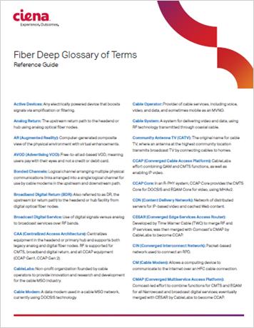 Fiber Deep Acronyms Guide