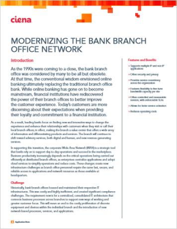 Modernizing the Bank Branch Office Network
