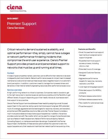 Premier Support data sheet