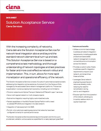 Solution Acceptance Service